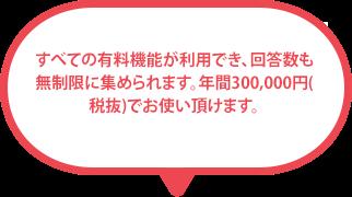 年間 298,000円(税抜)のプレミアムプランでは、お電話でのサポートを承っています。 そのため、アンケート作成が初めての方でも安心です 。
