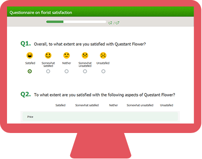 Self-Service Questionnaire on your PC